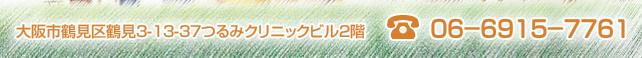 大阪市鶴見区鶴見3-13-37つるみクリニックビル2階 電話:06-6915-7761